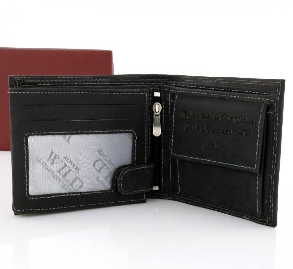 portfel skórzany z grawerem