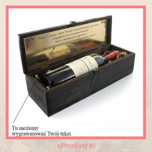 Skrzynka na wino - prezent urodzinowy