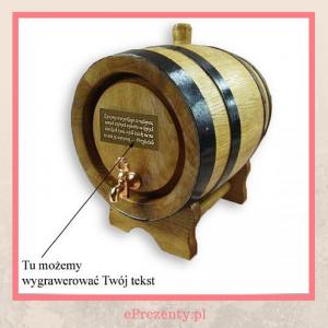 Beczka dębowa na alkohol - prezent urodzinowy