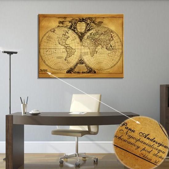 mapa swiata dla biznesmena