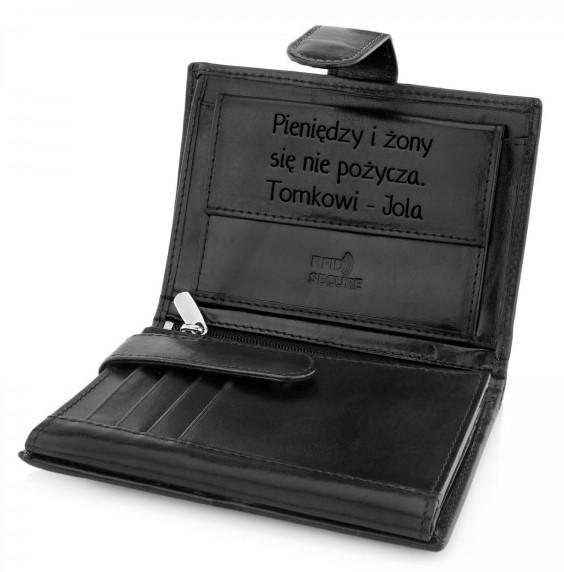 portfel meski na prezent