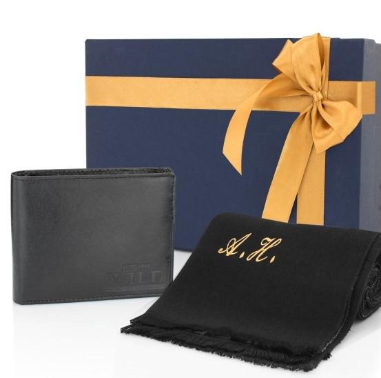 portfel z szalikiem