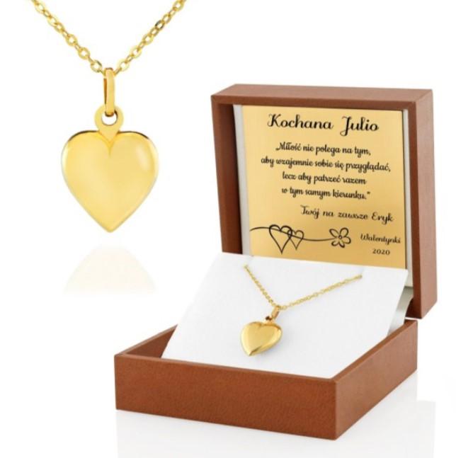 biżuteria zlota z grawerem