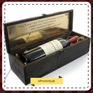 Drewniana skrzynka na wino - pomysł na prezent dla konesera wina