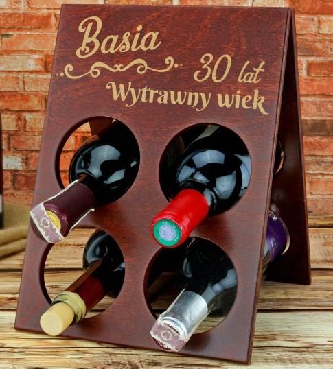 stojak na wina z grawerem