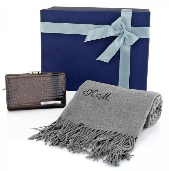 szalik i portfel na prezent