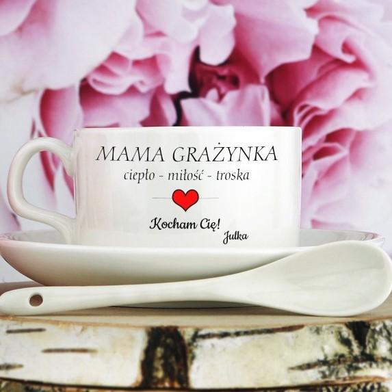 filizanka personalizowana na prezent dla mamy