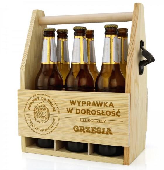 grawerowana skrzynka na piwo
