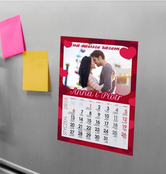 kalendarz na walentynki na magnesie
