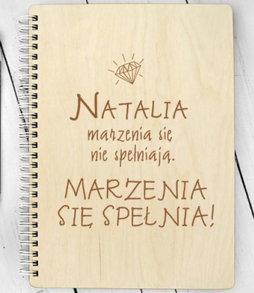 Notes drewniany na imieniny krystyny