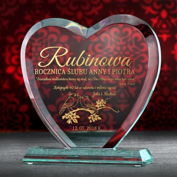 Prezent na rubinową rocznicę ślubu - czterdziesta rocznica ślubu