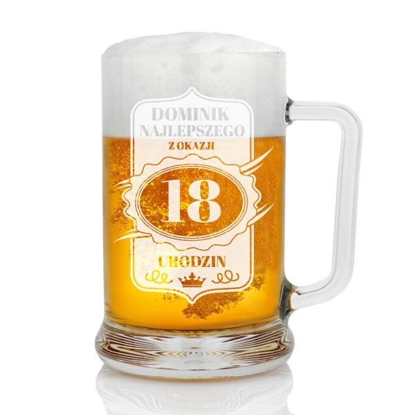 prezent na 18 dla chłopaka kufel do piwa z imieniem