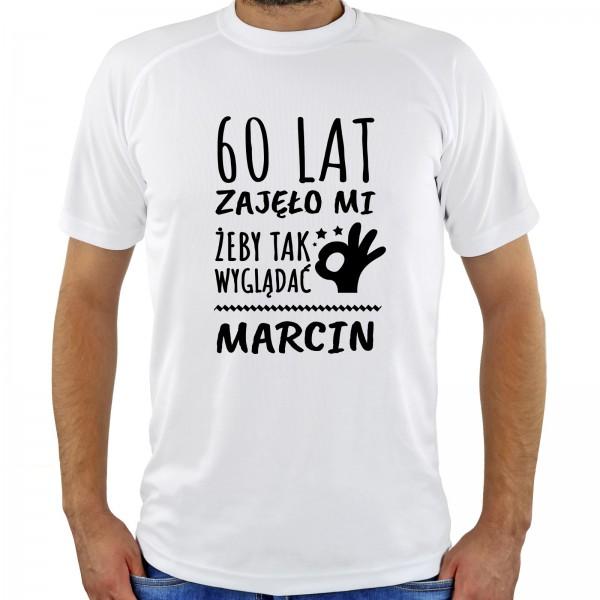 Prezent dla brata na 60 urodziny spersonalizowana koszulka męska