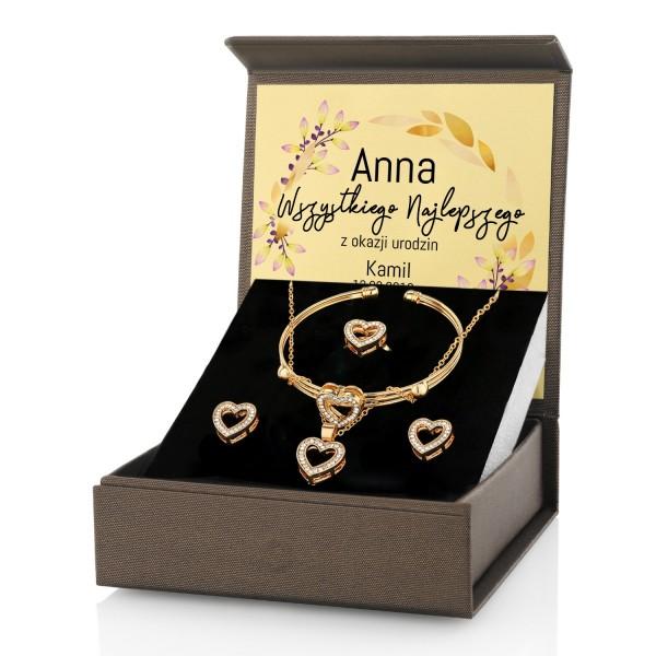 zestawy prezentowe dla niej biżuteria z dedykacją