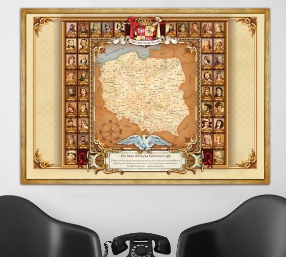 mapa na prezent dla pracownika