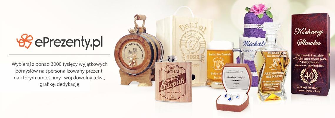 Personalizowane prezenty z grawerem, haftem, nadrukiem dowolnej dedykacji