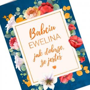 kolorowy nadruk personalizacji na kartce z okazji dnia babci