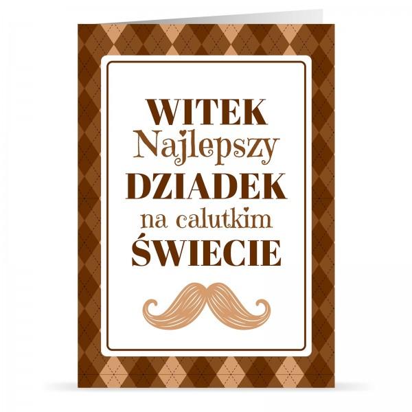 kartka składana z nadrukiem personalizacji na prezent na dzień dziadka