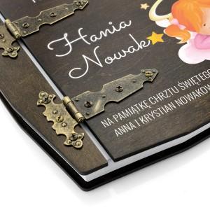 Personalizowany album w drewnianej oprawie