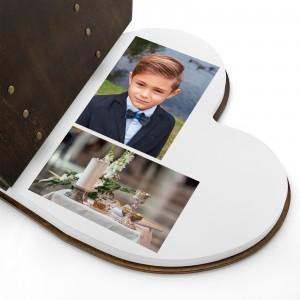 drewniany album na zdjęcia na komunię