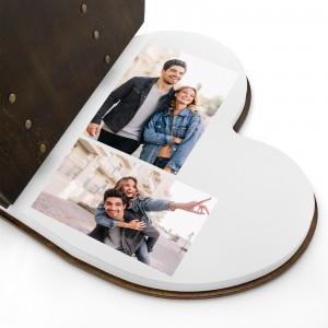 drewniany album na zdjęcia dla pary