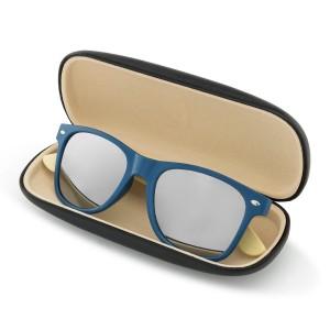 niebieskie okulary przeciwsłoneczne w etui na prezent dla niego na mikołajki