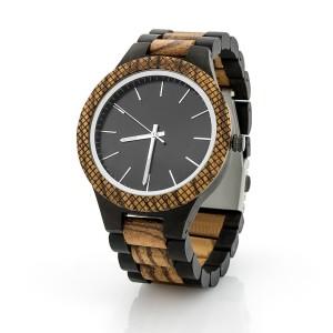 drewniany zegarek na prezent dla męża na urodziny