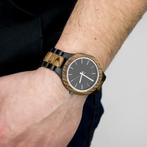 elegancki drewniany zegarek na rękę na prezent dla męża na imieniny