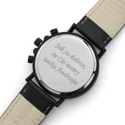 grawer dedykacji na drewnianym zegarku na prezent dla taty na dzień ojca
