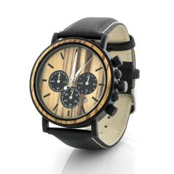 drewniany zegarek na prezent dla taty na urodziny