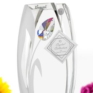ekskluzywny wazon z kryształem Swarowskiego na prezent na 60 dla żony