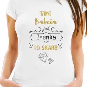 koszulka z nadrukiem  personalizacji na prezent dla babci na urodziny