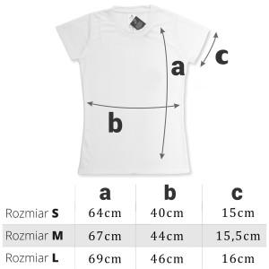 rozmiary koszulki z nadrukiem na prezent dla babci na imieniny