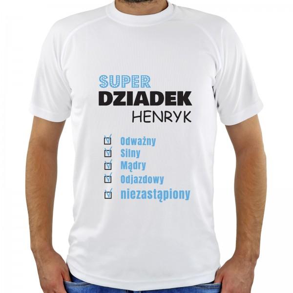 koszulka z nadrukiem na prezent dla dziadka