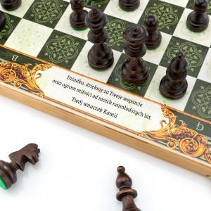 szachy z grawerem dedykacji na prezent na dzień dziadka