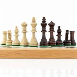 drewniane szachy w kasecie na prezent dla dziadka na imieniny