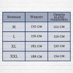 tabela rozmiarów szlafroka męskiego