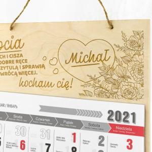 kalendarz personalizowany ścienny dla babci