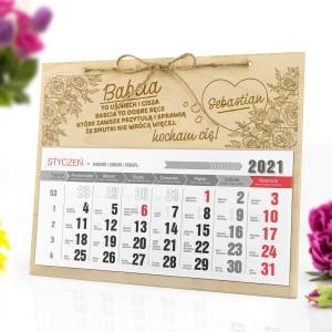 kalendarz ścienny 2021 z grawerem