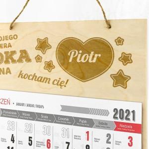kalendarz personalizowany z grawerem dla dziadka
