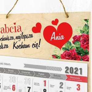 kalendarz ścienny na dzień babci