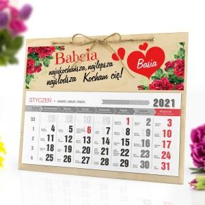 kalendarz personalizowany 2021 dla babci