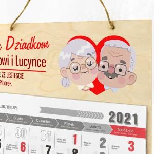 kalendarz 2021 dla babci i dziadka