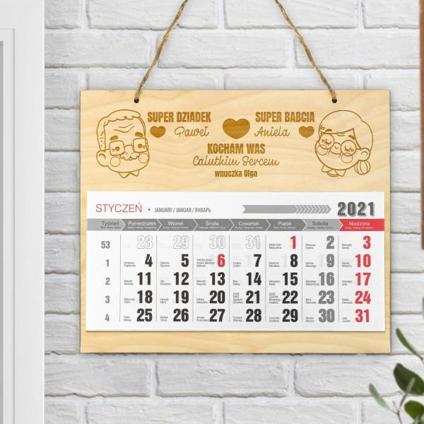 kalendarz ścienny 2021 personalizowany