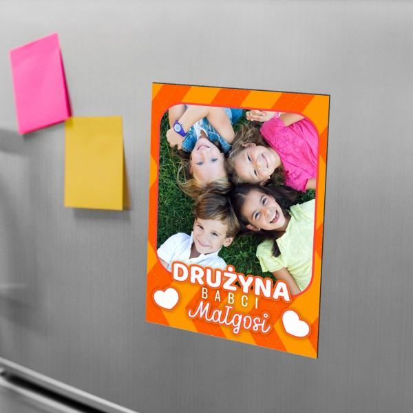magnes na lodówkę ze zdjęciem i personalizacją na prezent na dzień babci