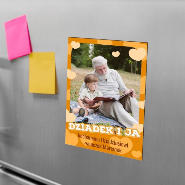 magnes na lodówkę ze zdjęciem i personalizacją na prezent na dzień dziadka