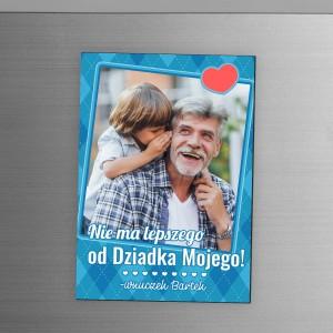 nadruk dedykacji i zdjęcia na magnesie na lodówkę na prezent z okazji dnia dziadka