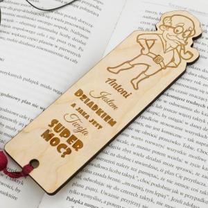 grawer dedykacji na zakładce do książki na prezent na dzień dziadka