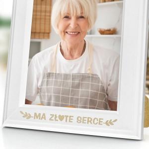 ramka z grawerem dedykacji na zdjęcia na prezent na dzień babci