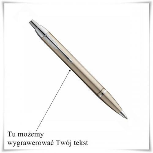 Długopis Parker IM Brushed Metal CT z opcją grawerowania - prezent na ślub